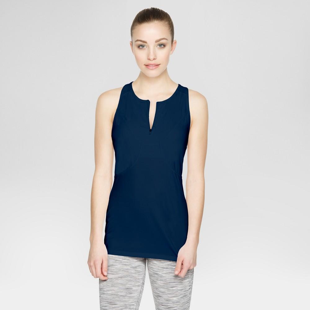 Baseline Womens Tennis Tank - Navy (Blue) S