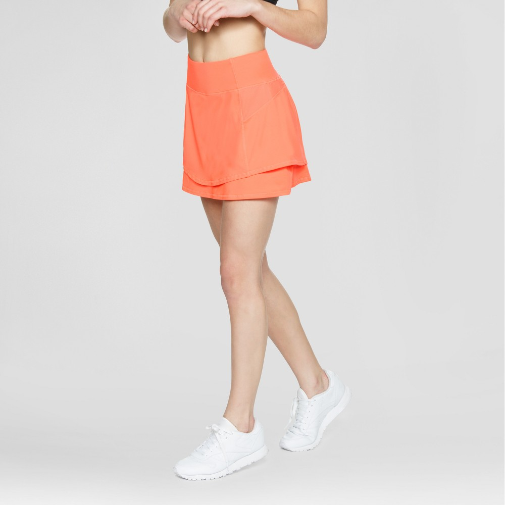 Baseline Womens Tennis Skirt - Hot Coral XL