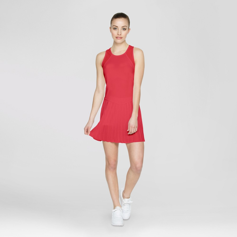 Baseline Womens Tennis Dress - Hot Coral S