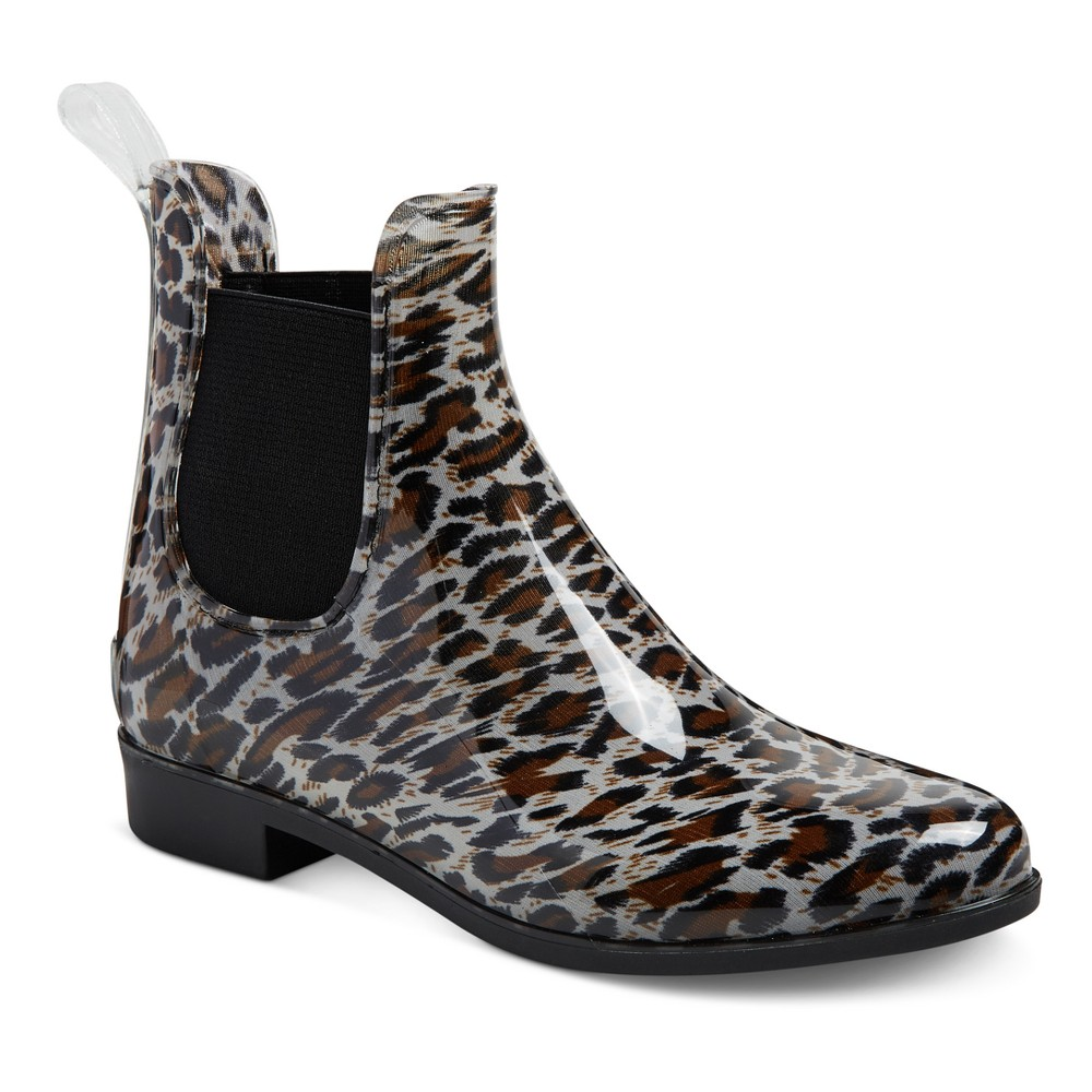 Womens Alex Rain Boots - Merona Brown 8