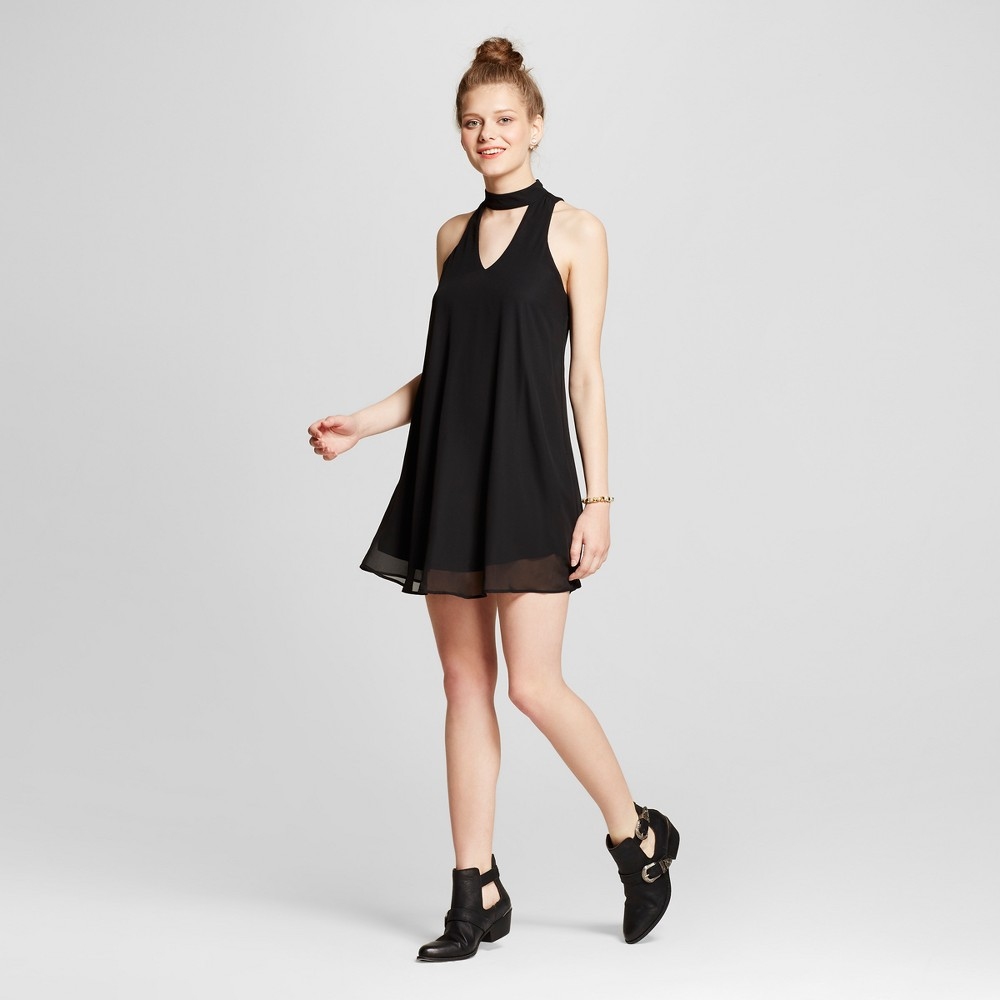 Womens Choker Cut Out Keyhole Dress - Lots of Love by Speechless (Juniors) Black M