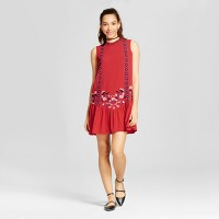 Women's Drop-waist Dress - Xhilaration (Juniors') Crimson. opens in a new tab.