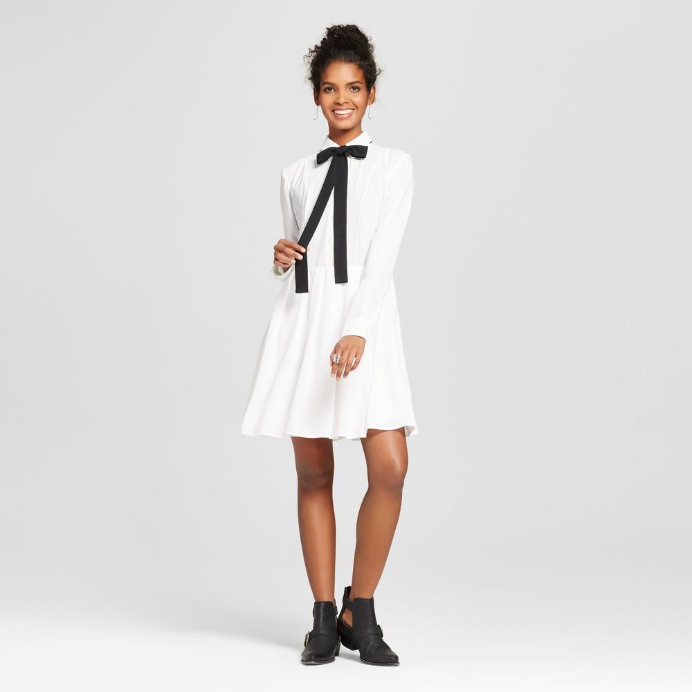 Women's Collared Shirt Dress Cream XL – K by Kersh, Beige