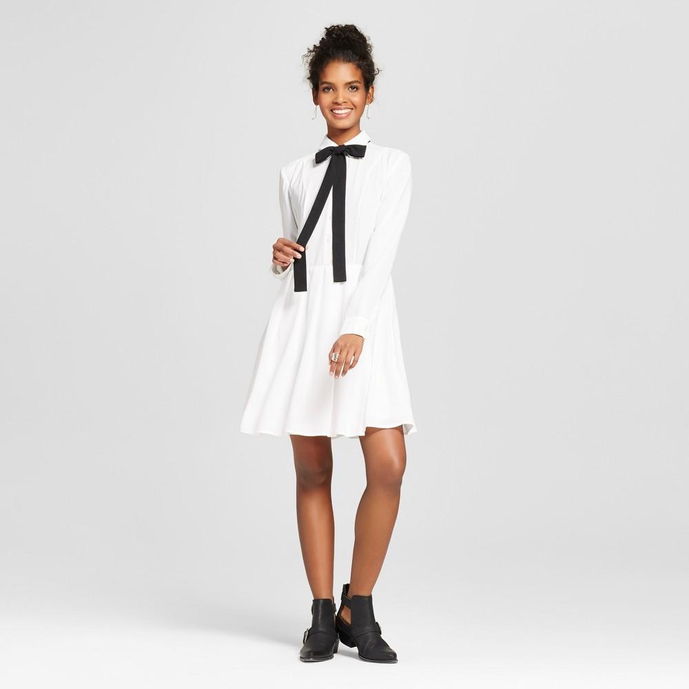Women's Collared Shirt Dress Cream S – K by Kersh, Beige