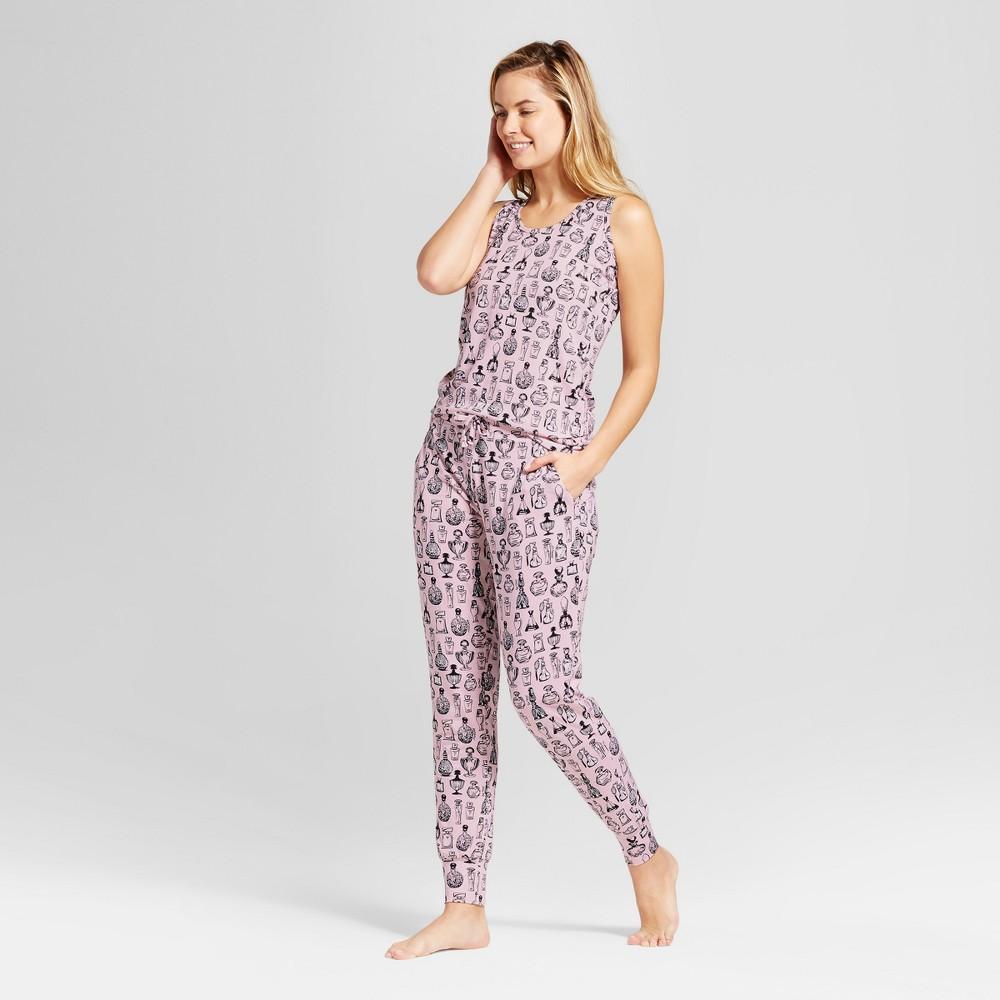 Womens Bhpj by Bedhead Pajamas Tank & Jogger Pajama Set - Perfume Bottles - Pink M