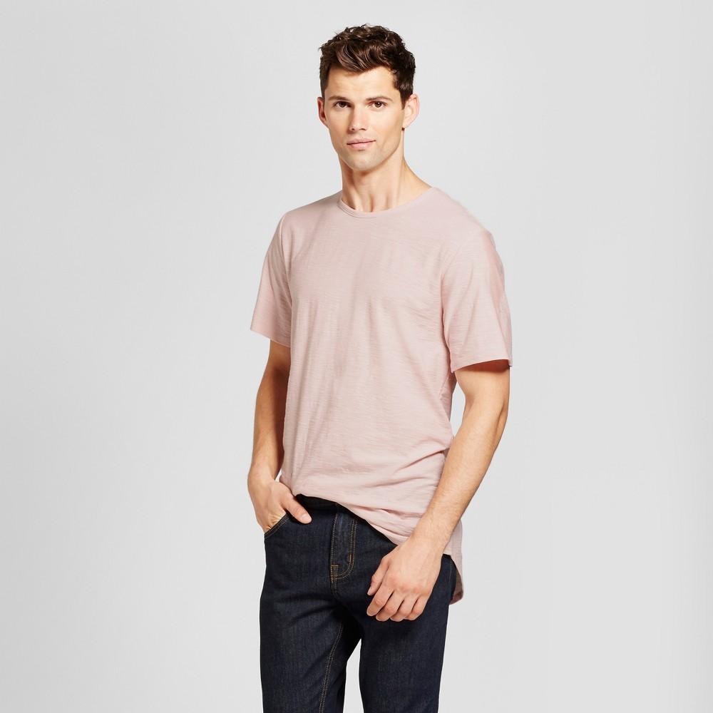 Men's Curved Hem T-Shirt Pink XL - Jackson