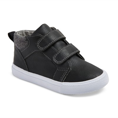 Toddler Boys' Harrison Mid Top Canvas Sneakers 8 - Cat & Jack™ - Black