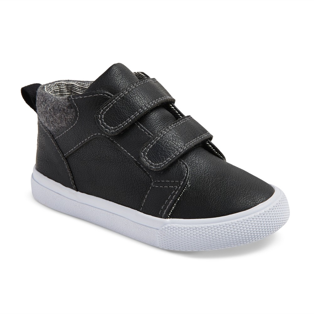 Toddler Boys Harrison Mid Top Canvas Sneakers 8 - Cat & Jack - Black