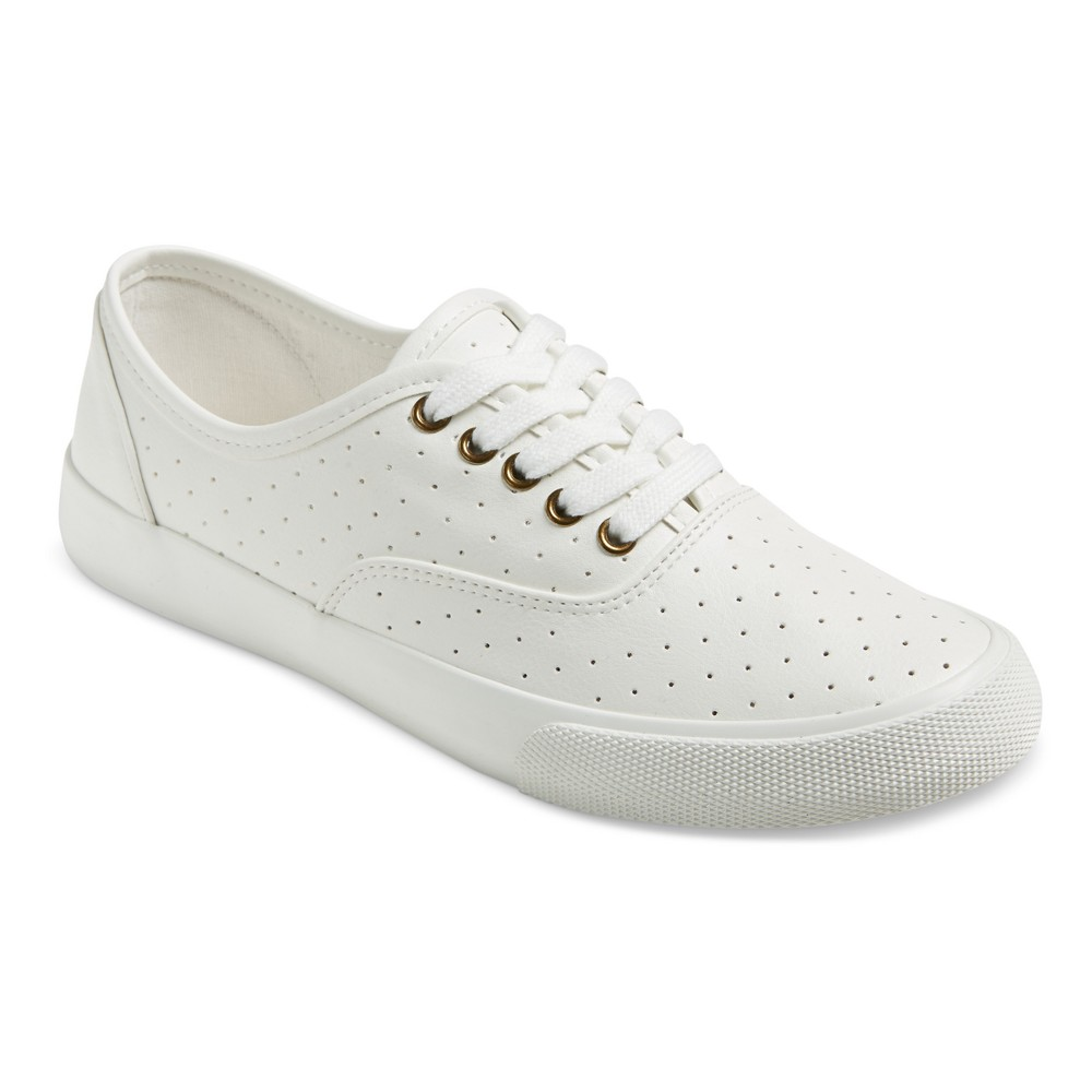 Women's Alba Laser Cut Sneakers - Mossimo Supply Co. White 7