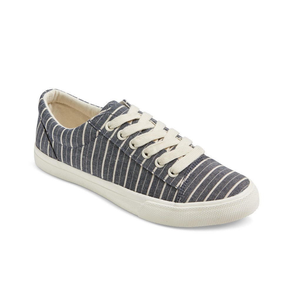 Womens Celeste Striped Print Sneakers - Mossimo Supply Co. Navy/Cream 9, Blue Off-White