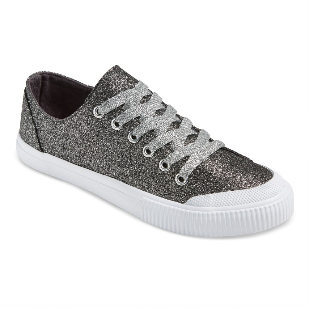 Womens June Glitter Sneakers - Mossimo Supply Co. Silver 9