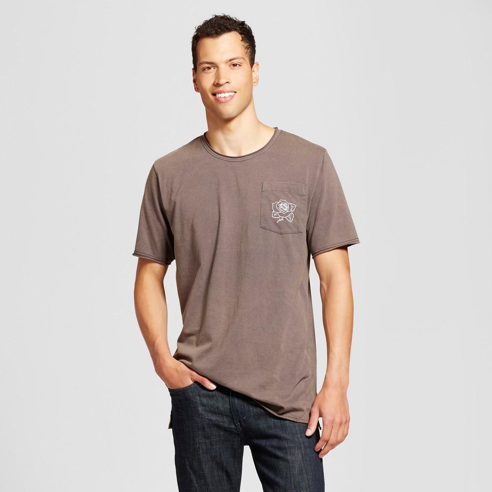 Mens Embroidered Pocket T-Shirt Vintage Black L - Jackson