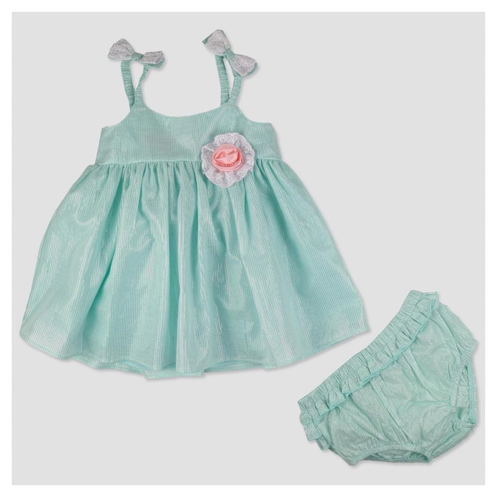 Baby Grand Signature Baby Girls' Glitter Stripe Lace Top ...