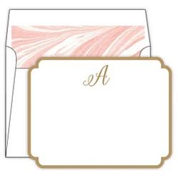 Die-Cut Marble Monogram Note Card