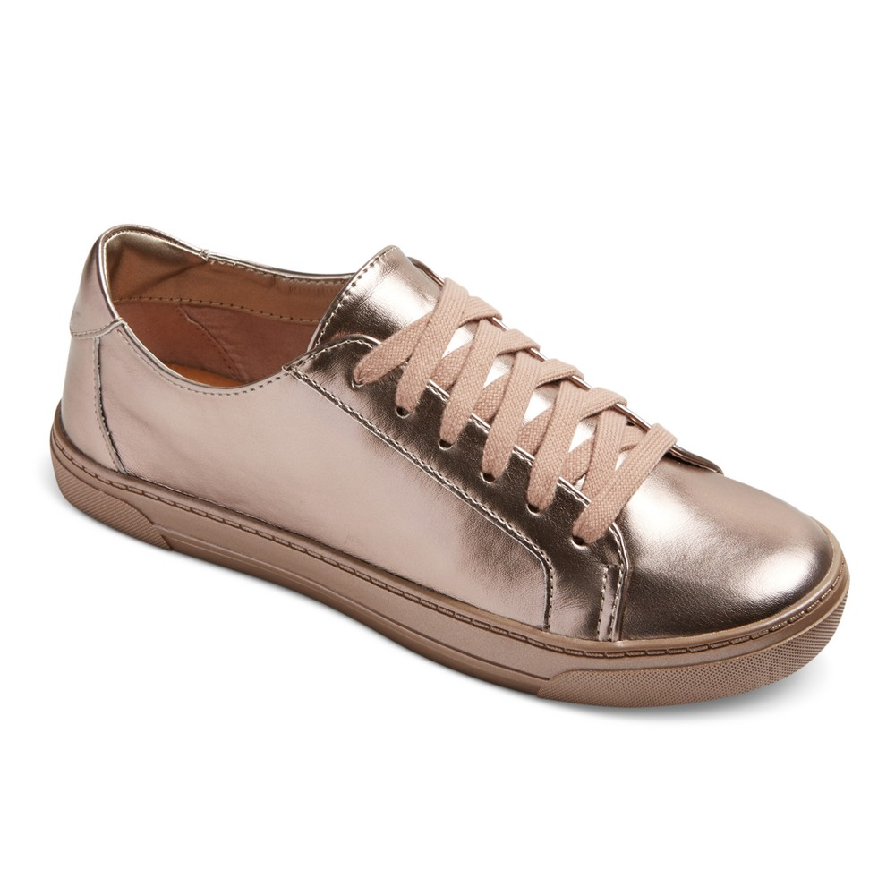 Womens Dv Sammy Lace Up Metallic Sneakers - Pink 8.5