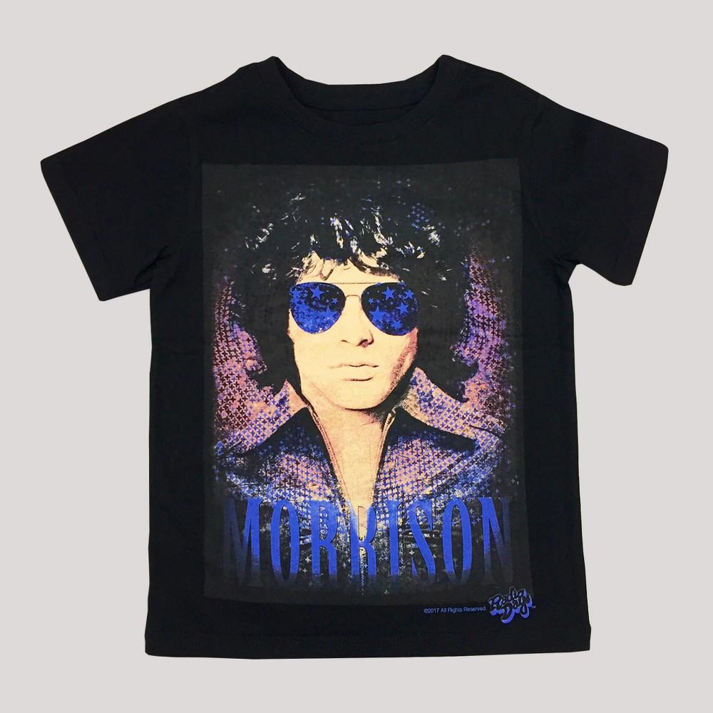 Toddler Boys Jim Morrison T-Shirt Black -18M, Size: 18 M