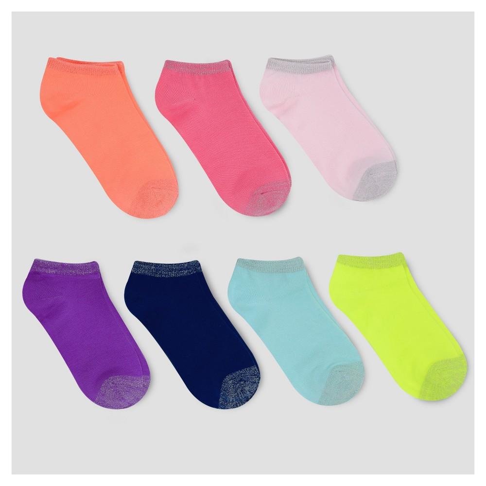 Girls No Show Socks 7pk - Cat & Jack L, Multicolored