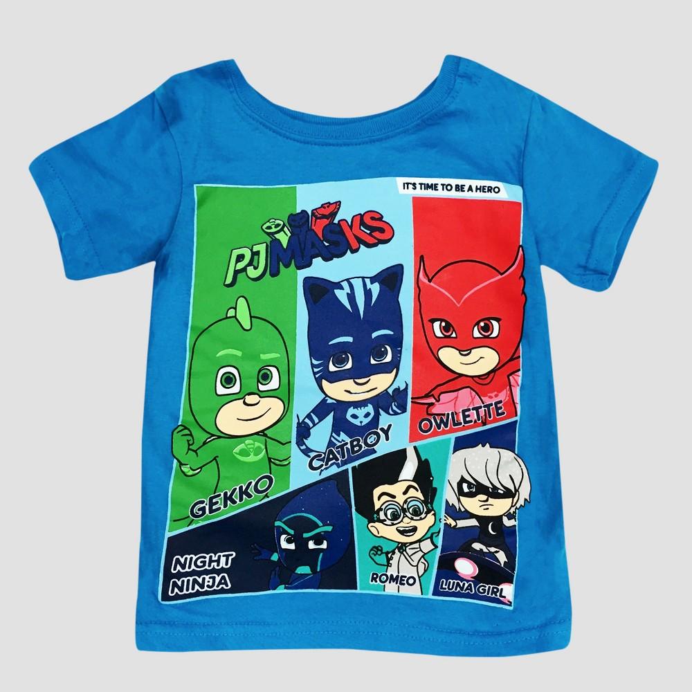 Toddler Boys Pj Masks Short Sleeve T-Shirt - Blue 12M, Size: 12 M