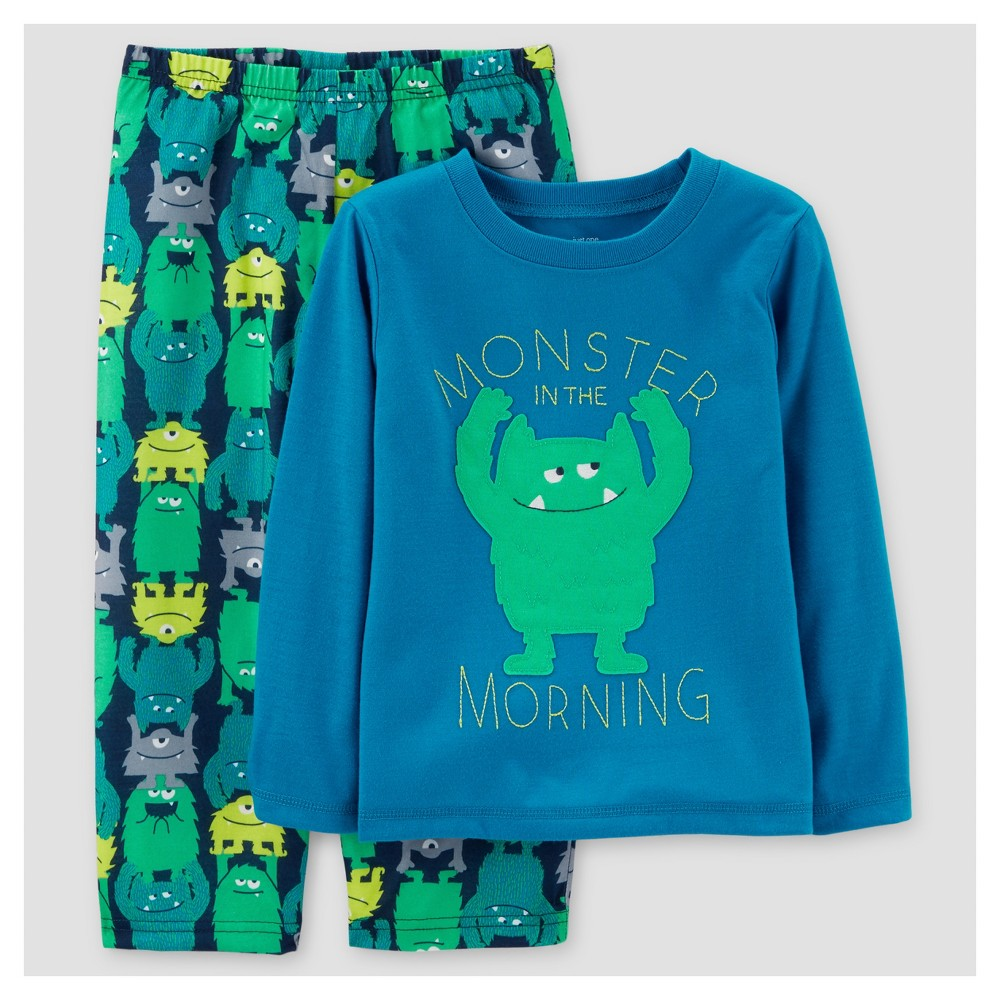 Toddler Boys 2pc Morning Monsters Pajama Set - Just One You Made by Carters Blue 3T