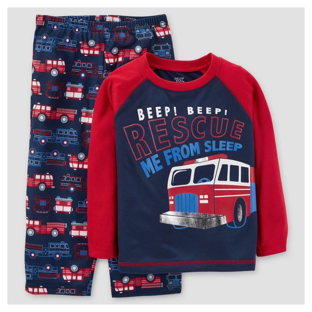 Toddler Boys 2pc Pajama Set - Just One You Made by Carters Red 18M, Size: 18 M