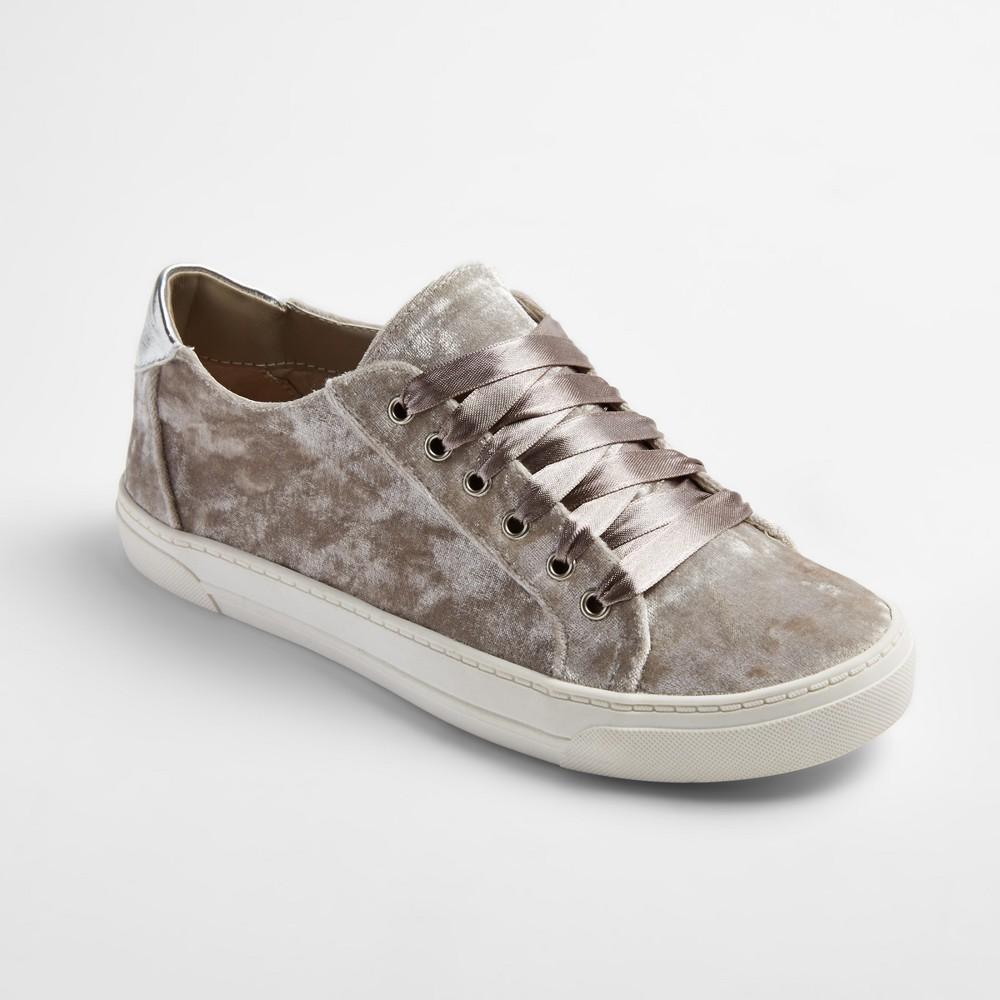 Womens dv Gina Velvet Slip On Sneakers - Gray 11