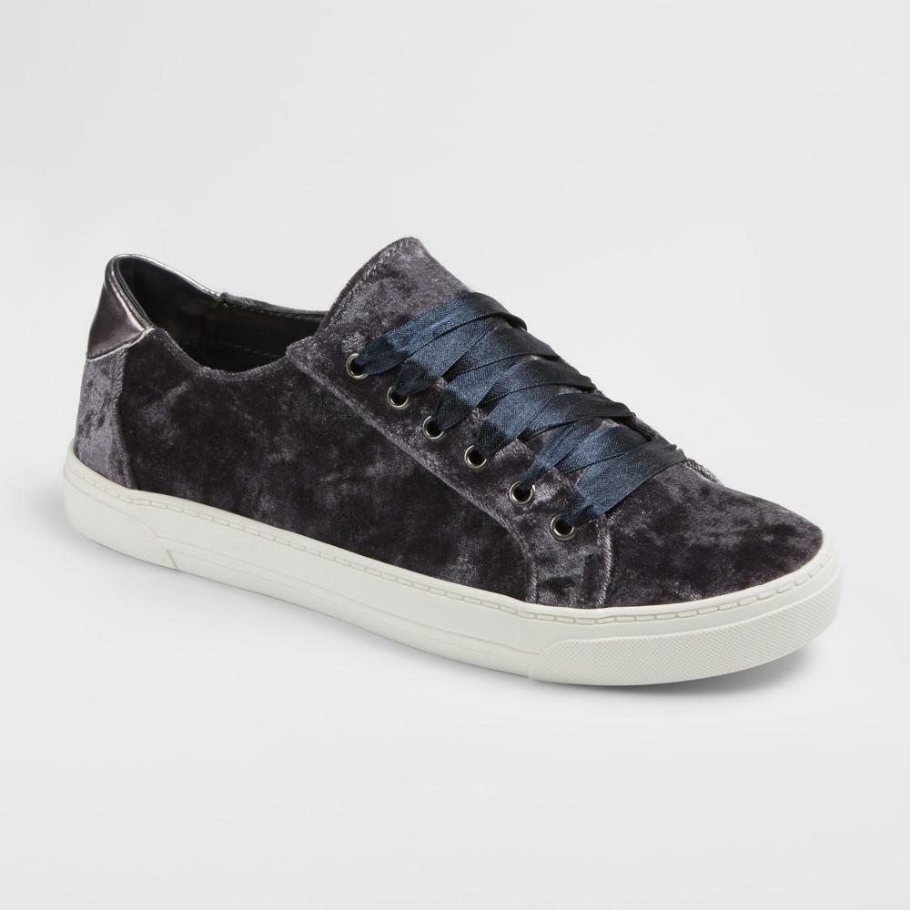 Women's dv Gina Velvet Slip On Sneakers - Pewter (Silver) 6