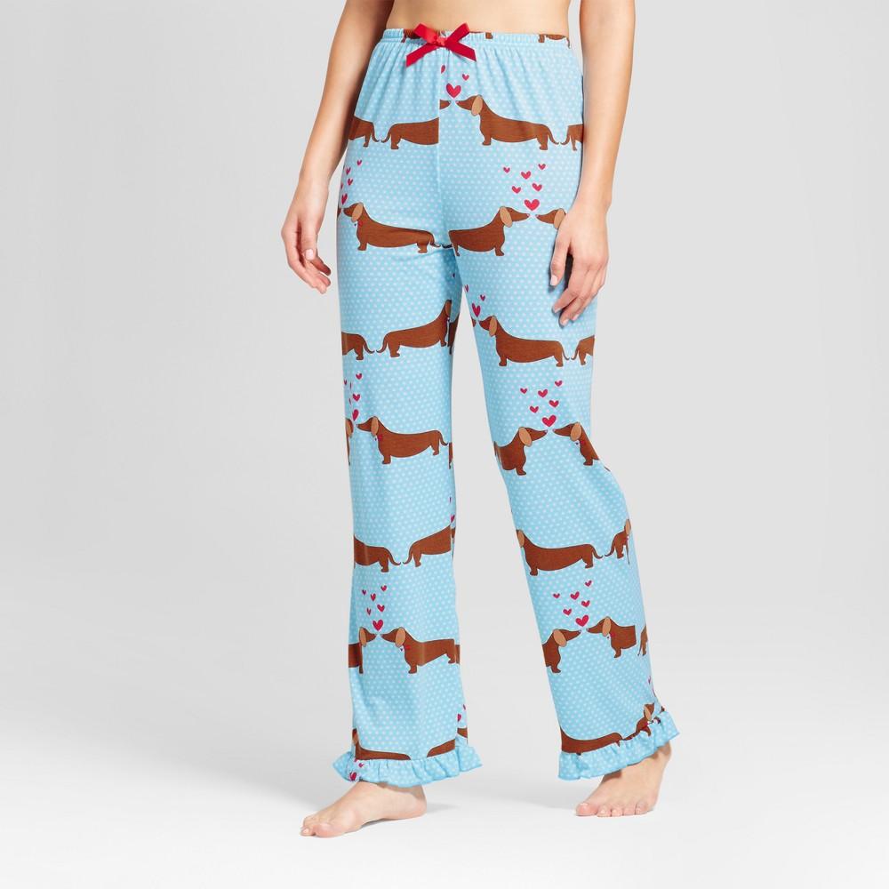 Womens Bhpj by Bedhead Pajamas Pajama Pants - Dachshund Love - Blue XS
