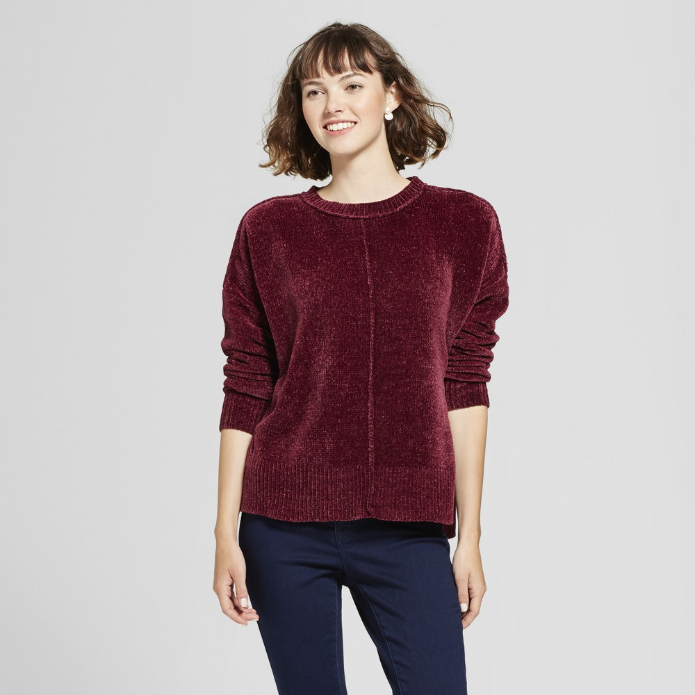 Womens Chenille Pullover - Mossimo Supply Co. Burgundy (Red) XS