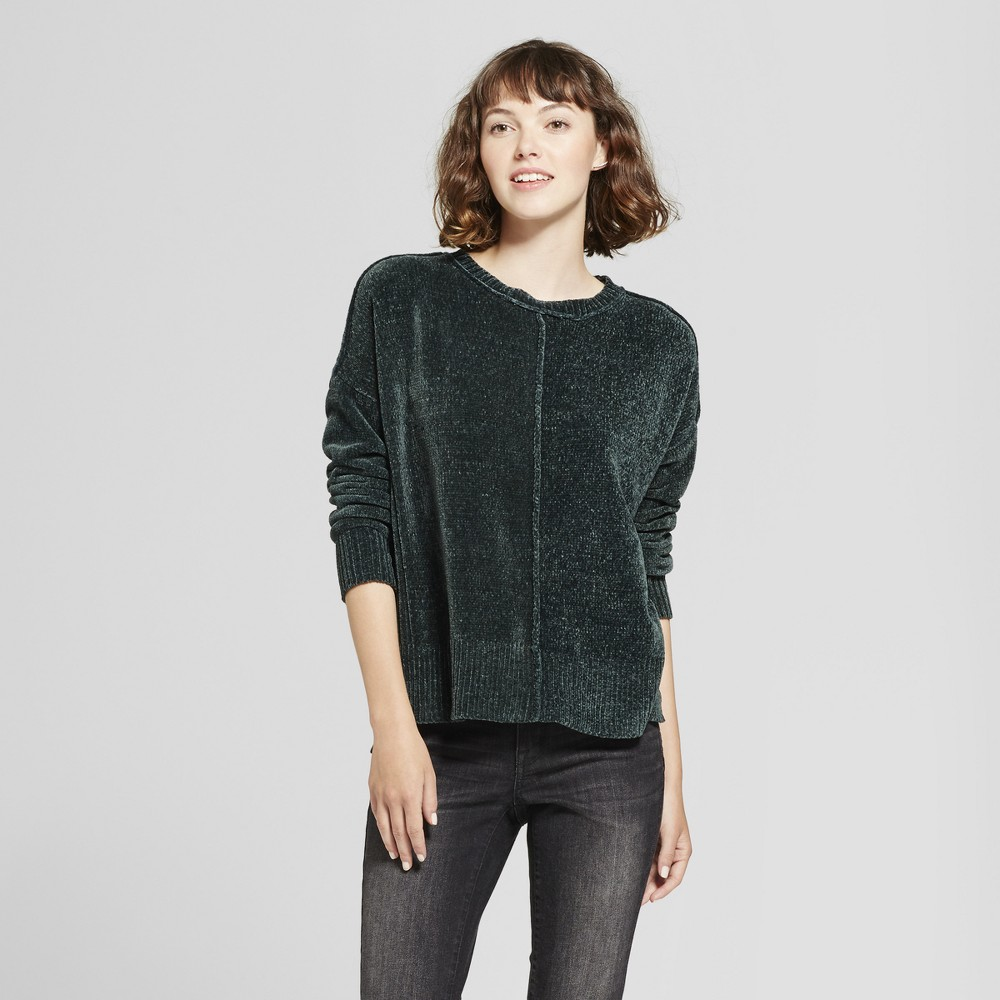 Womens Chenille Pullover - Mossimo Supply Co. Green XS