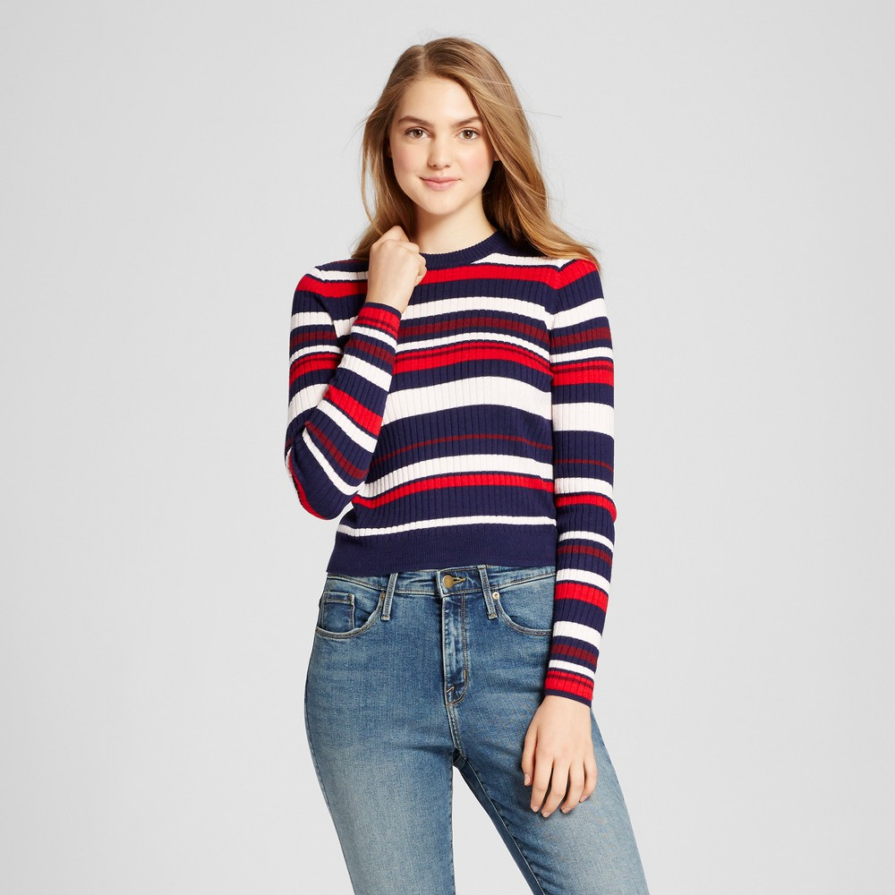 Womens Strappy Thermal Pullover - Mossimo Supply Co. Navy L, Blue