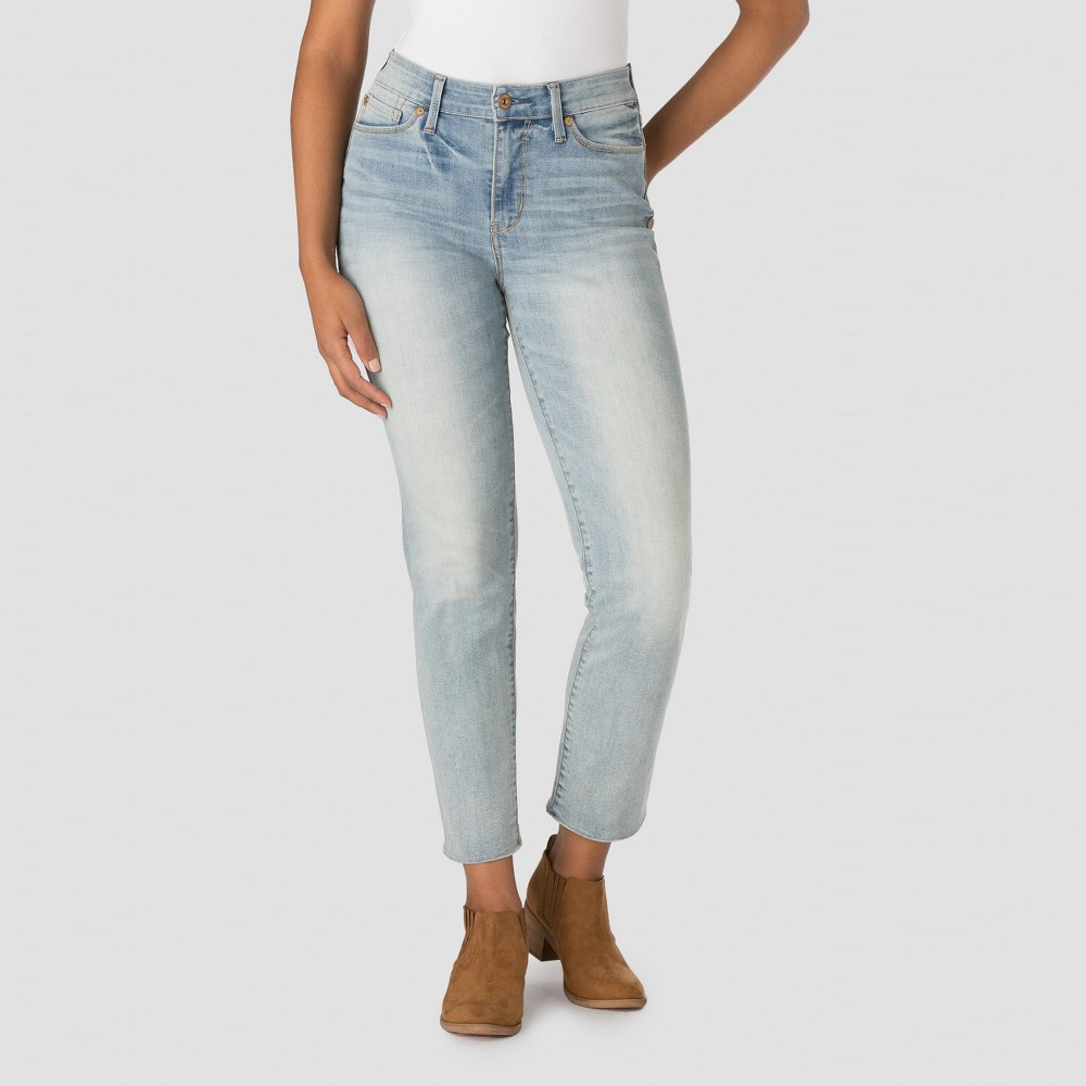 Denizen from Levis Womens High Rise Ankle Straight Jeans - Ravine 8, Blue