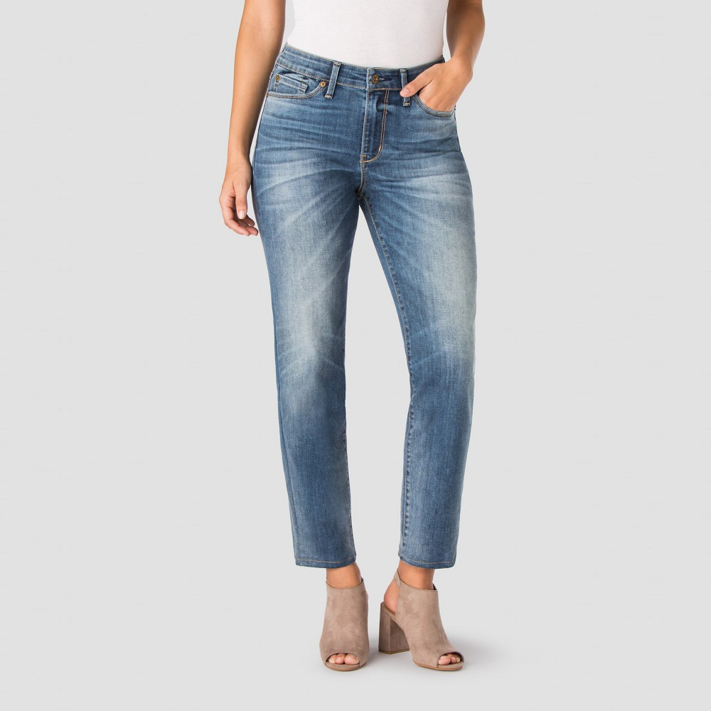 Denizen from Levis Womens High Rise Ankle Straight Jeans - Sunny 18, Blue