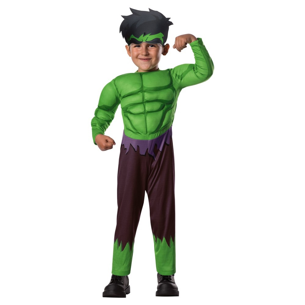Toddler Marvel Hulk Muscle Costume - 2T-3T, Toddler Boys, Multicolored