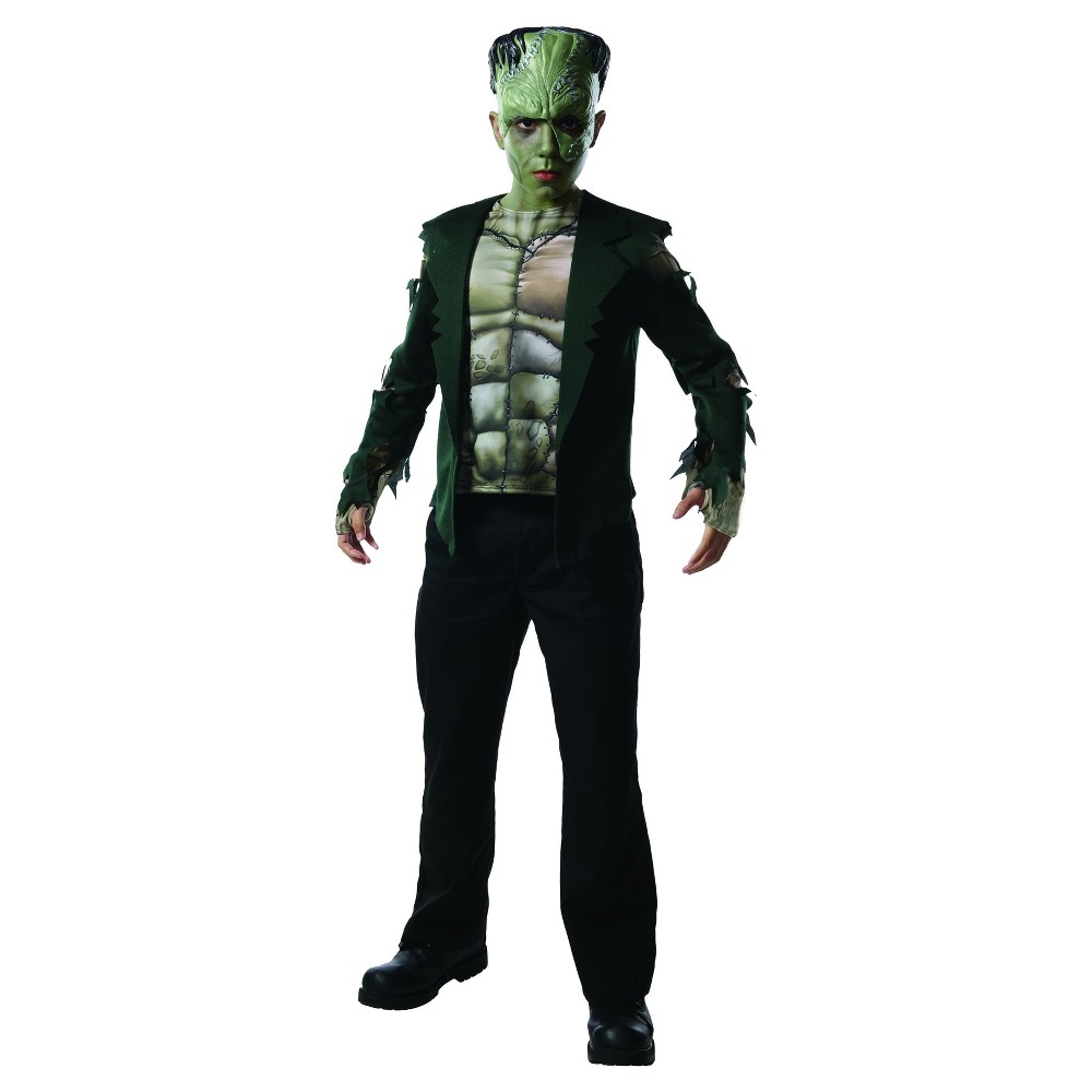 Boys Universal Studios Monsterville Frankenstein Costume - L (10-12), Multicolored