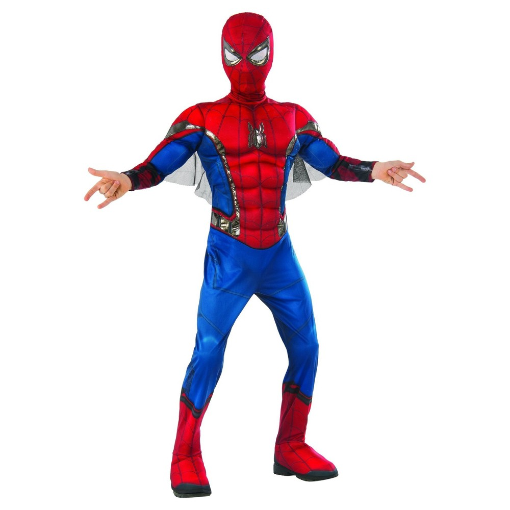 Marvel Spider-Man Boys' Muscle Costume M (7-8), Multicolored
