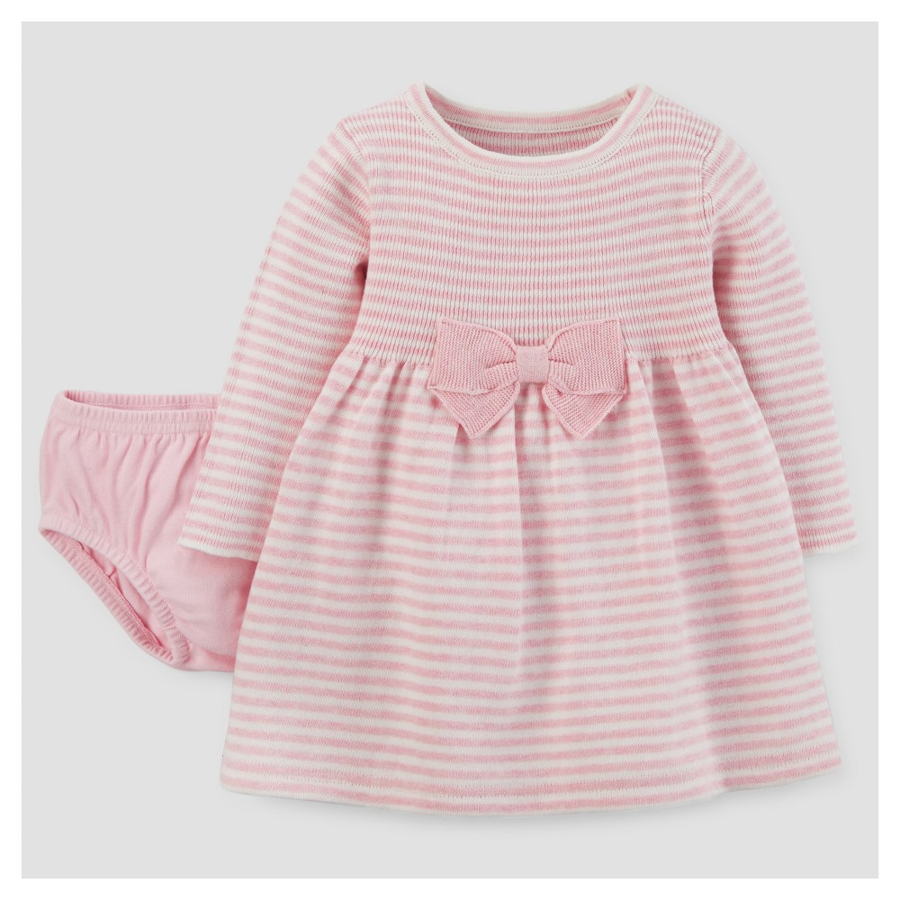Baby Girls Bow Dress - Just One You Made by Carters Pink 12M, Size: 12 M