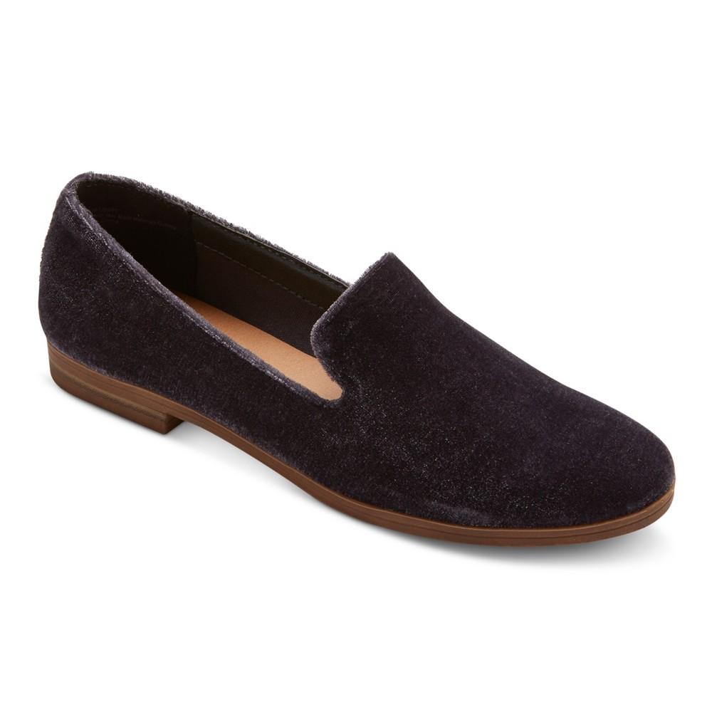 Womens Dv Lucy Velvet Loafers - Gray 6