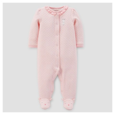 Baby Girls' Bunny Ruffle Sleep N' Play - Just One You™ Made by Carter's® Pink NB