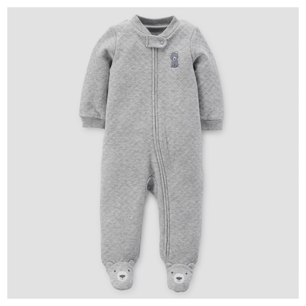 Baby Boys Bear Sleep N Play - Just One You Made by Carters Gray 9M, Size: 9 M