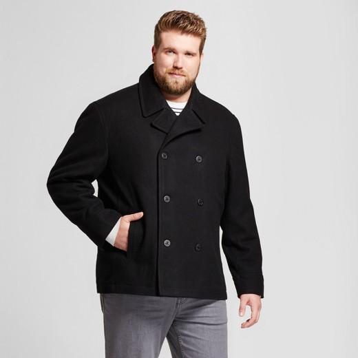Men's Big & Tall Standard Fit Wool Pea Coat - Goodfellow & Co ...