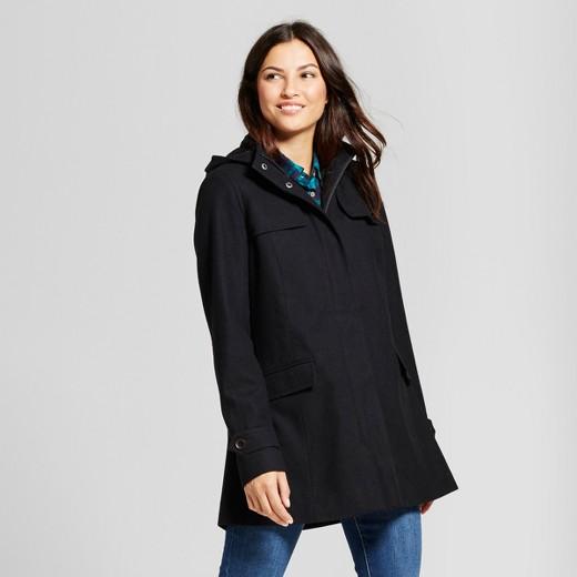 Women's Wool Duffle Coat - A New Day™ Black L : Target