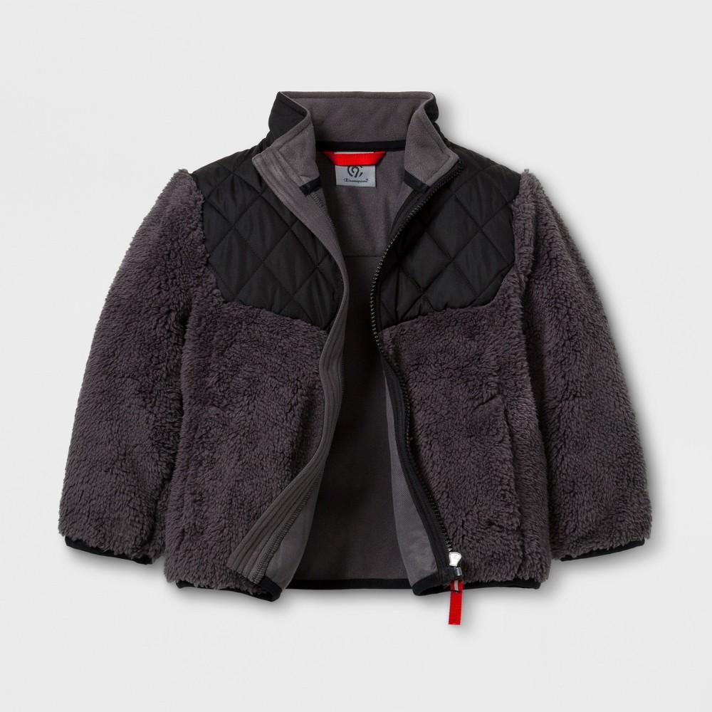 Toddler Boys Fleece Jacket - C9 Champion Black 5T, Black Gray