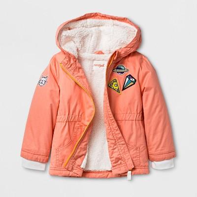 Toddler Girls' Anorak Jacket with Sherpa Lining - Cat & Jack™ Pink 12M