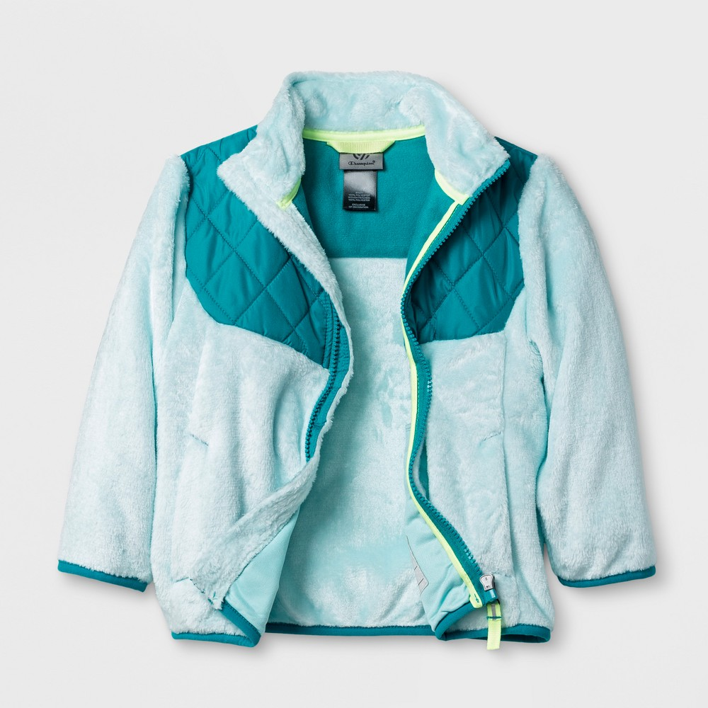 Toddler Girls Fleece Jacket - C9 Champion Blue 5T