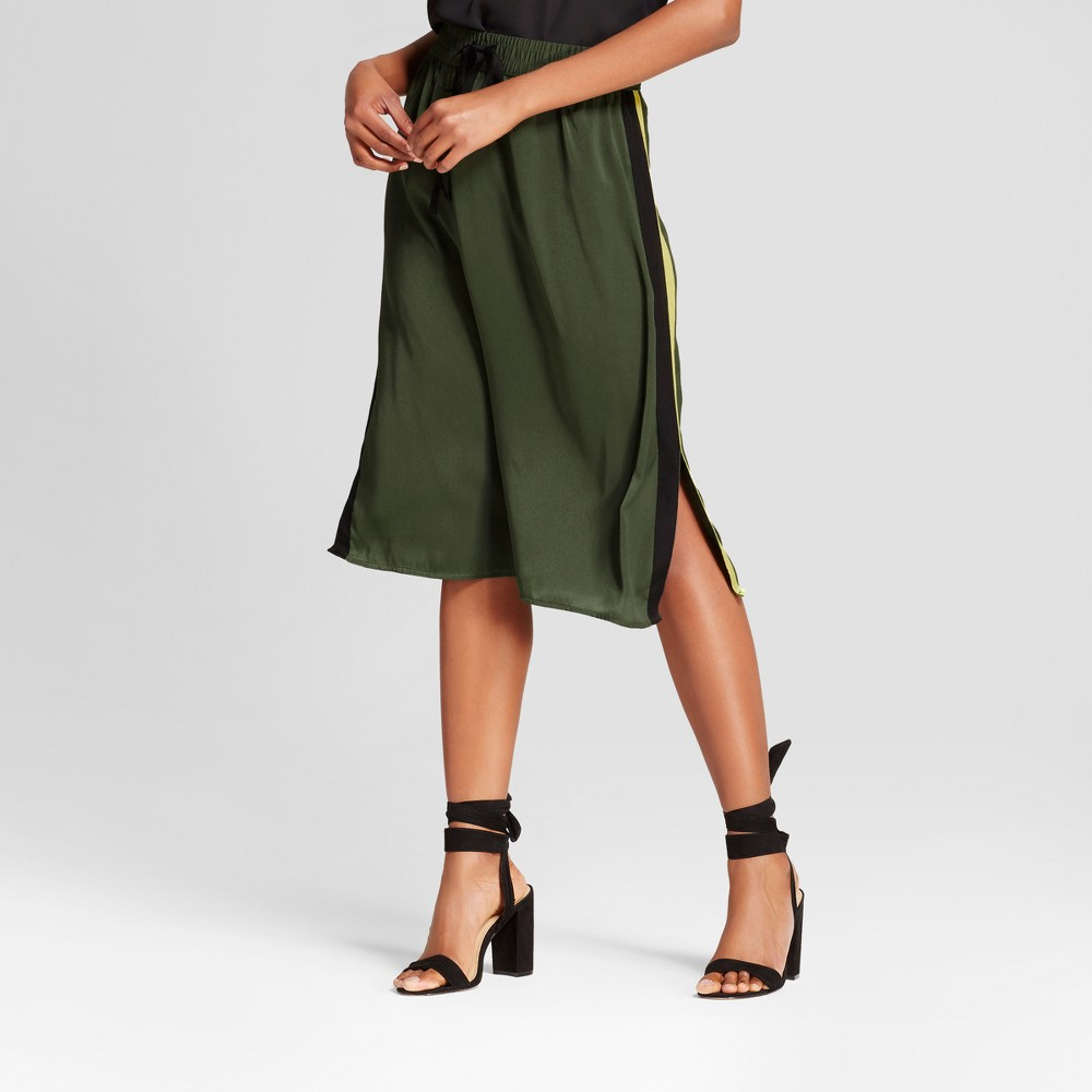 Womens Silky Track Skirt - Who What Wear Olive (Green) Xxl