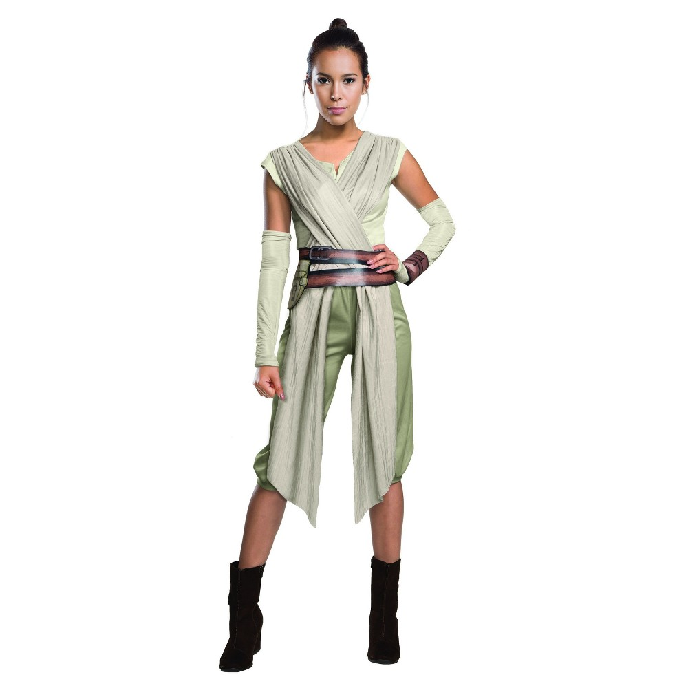 Womens Star Wars Deluxe Rey Costume - M, Multicolored