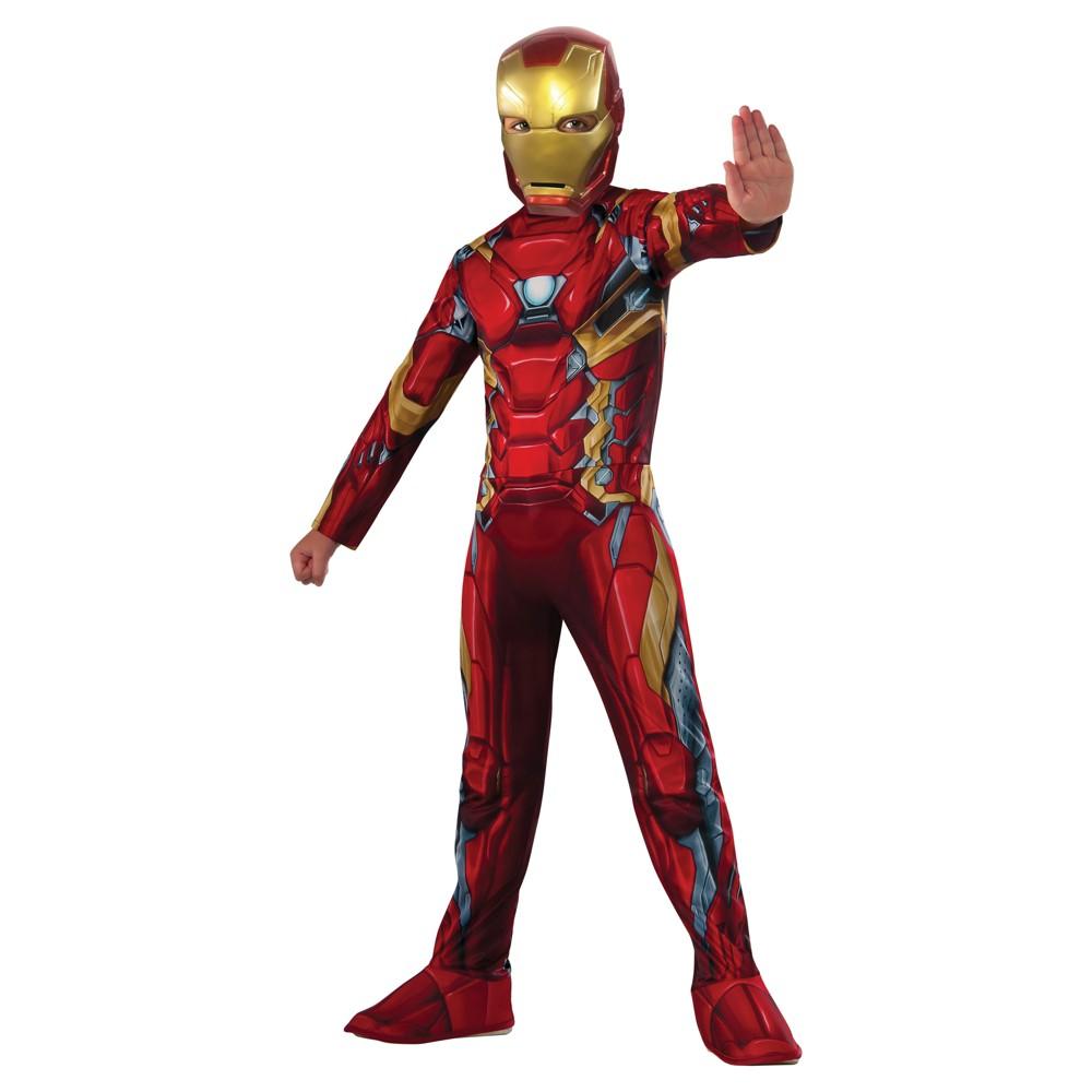 Boys Marvel Iron Man Costume - L (10-12), Multicolored