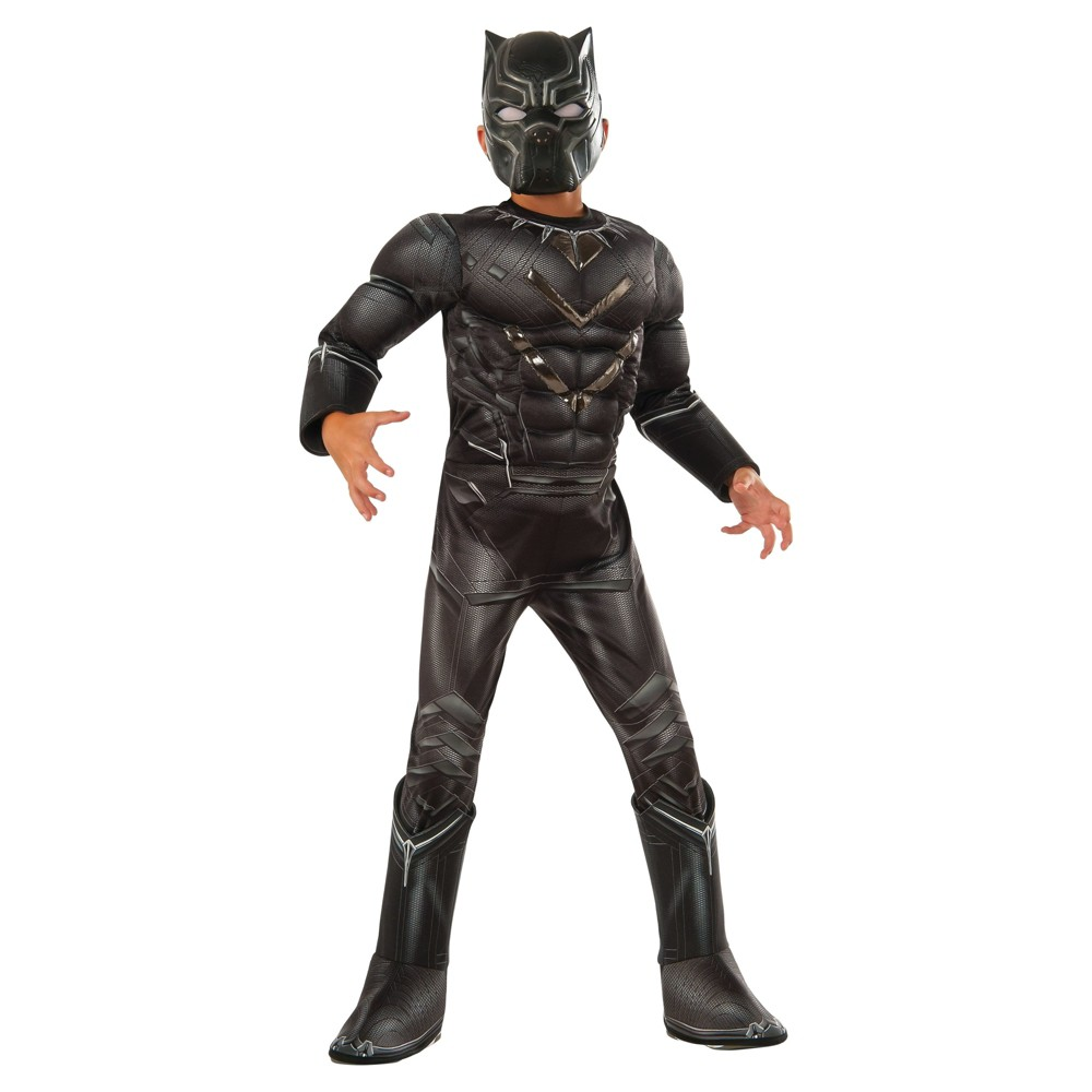 Boys Marvel The Avengers Black Panther Deluxe Costume - L (10-12), Multicolored
