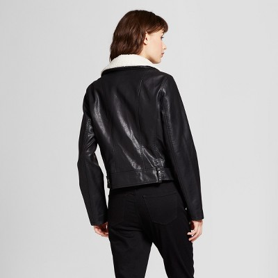 Women's moto jacket black mossimo
