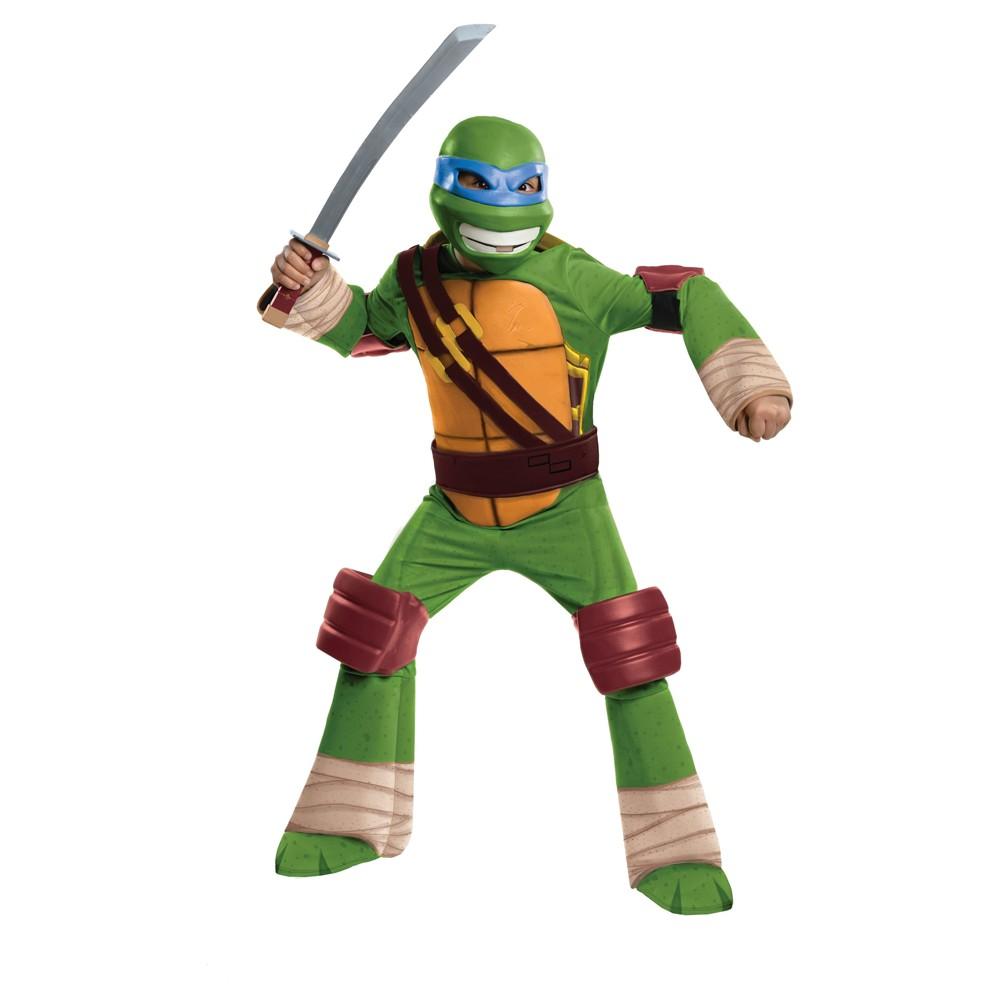 Boys Teenage Mutant Ninja Turtles Leonardo Deluxe Costume - S (4-6), Multicolored